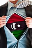 Libya flag on shirt
