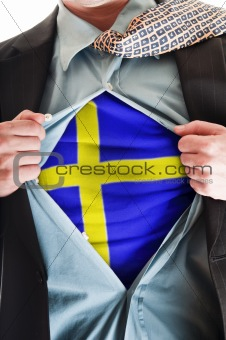 Sweden  flag on shirt