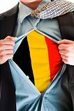 Belgium flag on shirt