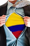Colombia flag on shirt