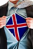 Iceland flag on shirt