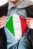 Italy flag on shirt
