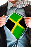 Jamaica flag on shirt