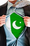 Pakistan flag on shirt