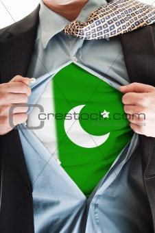 Pakistan flag on shirt
