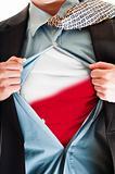 Poland flag on shirt