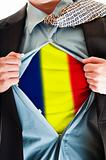 Romania flag on shirt