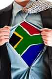 South Africa flag on shirt