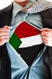 Sudan flag on shirt