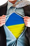 Ukraine flag on shirt