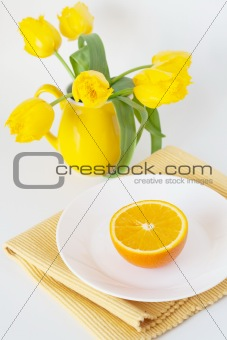 Juicy oranges for breakfast