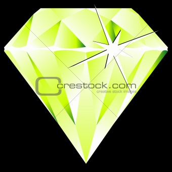 green diamond against black