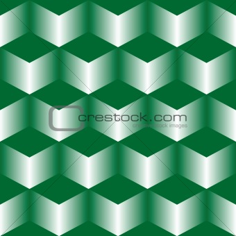 green stairs pattern