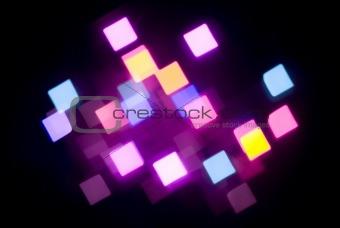 glowing magenta lights