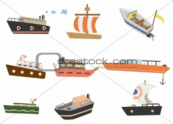 cartoon ship icon