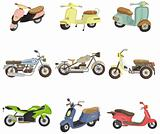 cartoon motorcycle icon