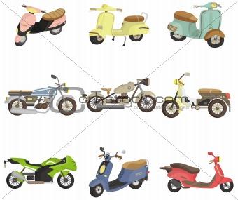 cartoon motorcycle icon