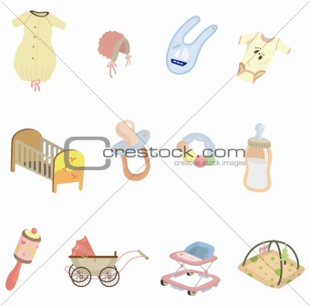 cartoon baby element icon