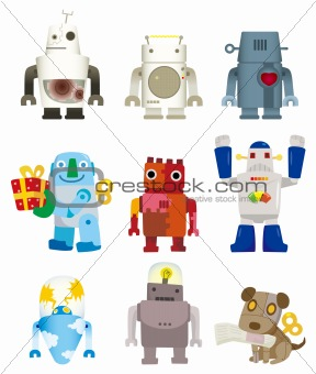 cartoon robot icon
