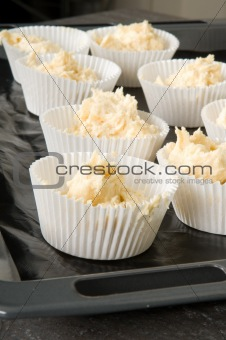 Cake cups Filled With Dough
