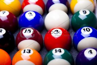 Billiard ball close up