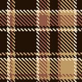 Seamless tartan brown abstract pattern