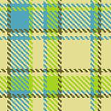 Seamless checkered green blue brown vector pattern
