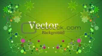 Grunge Floral Vector Background