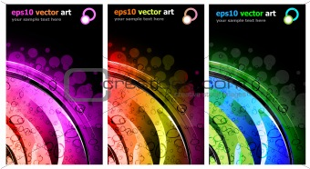 3 Abstract Background for Business Stylish Flyers