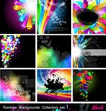 Rainbow Backgrounds Collection - Set 1 Black Version