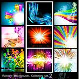 Rainbow Backgrounds Collection - 9 Flyer - Set 2