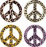 animal skin peace symbol