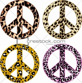 animal skin peace symbol