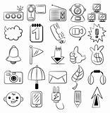 hand draw cartoon web icon