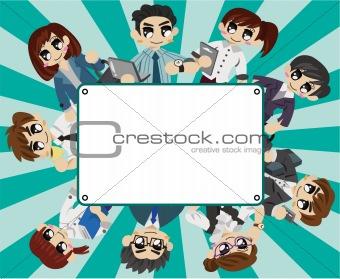 office worker card