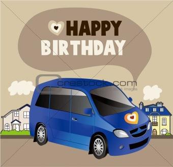 car birthday card