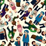 seamless office worker pattern