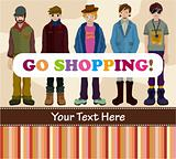 young boy shopping card