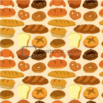 seamless bread pattern