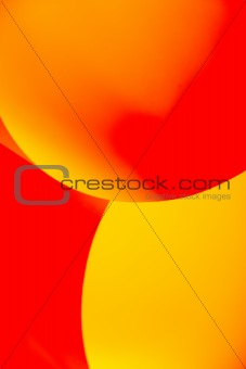 abstract image paper shapes yellow red