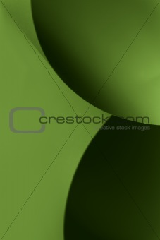 abstract image paper shapes black green