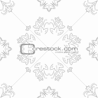 Abstract flower background, contour