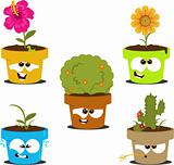 cute cartoon flower pots