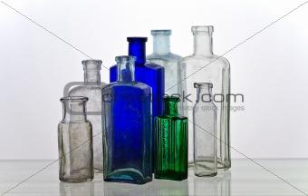 Group of vintage medicine bottles