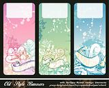 Abstract Floral Bookmark Banners