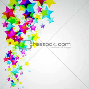 Abstract Rainbow Stars Flyer