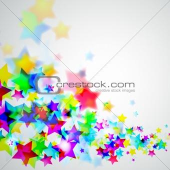 Abstract Rainbow Stars Flyer