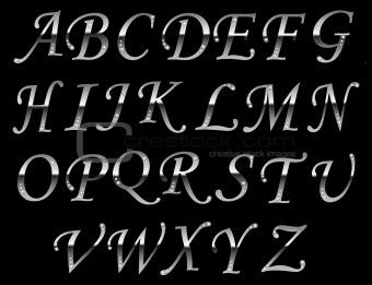 Chrome typeface Gray.