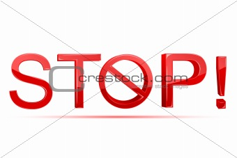 Stop with Forbidden Sign