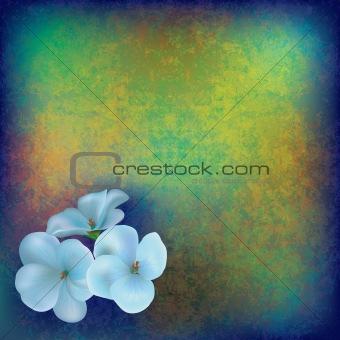 grunge floral illustratiun
